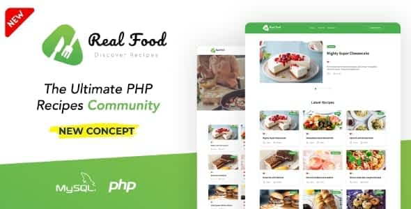 RealFood | The Ultimate PHP Recipes & Community Food Nulled