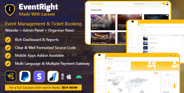EventRight - Ticket Sales and Event Booking & Management Sys... Nulled