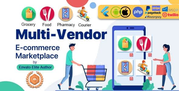 GoMarket | Food, Grocery, Pharmacy & Courier Delivery App | ... Nulled