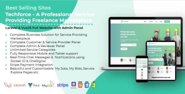 Techforce - A Professional Service Providing Freelance Marke... Nulled