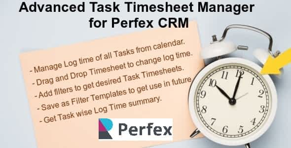Advanced Task Timesheet Manager Module for Perfex CRM Nulled