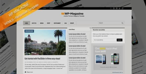 Magazine HTML5 Responsive Template Nulled