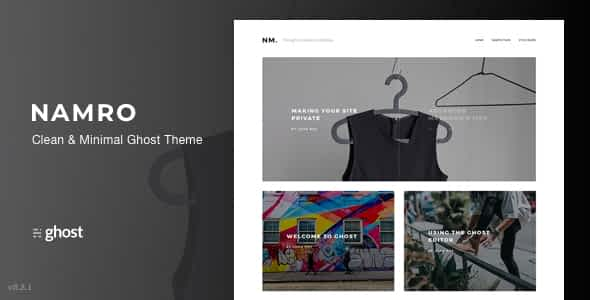Namro - Clean and Minimal Ghost Theme Nulled