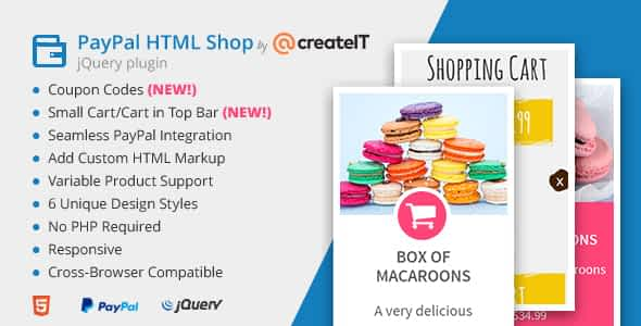 jQuery Paypal HTML Shop Nulled
