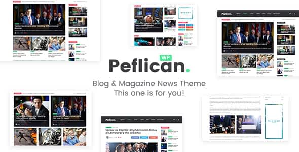 Peflican - A Newspaper and Magazine WordPress Theme Nulled