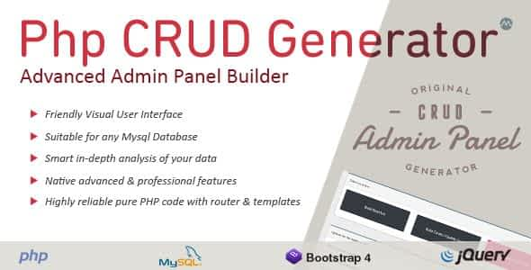 PHP CRUD Generator Nulled