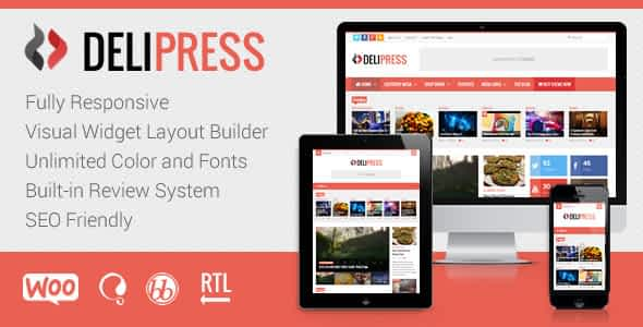 DeliPress - Magazine and Review WordPress Theme Nulled
