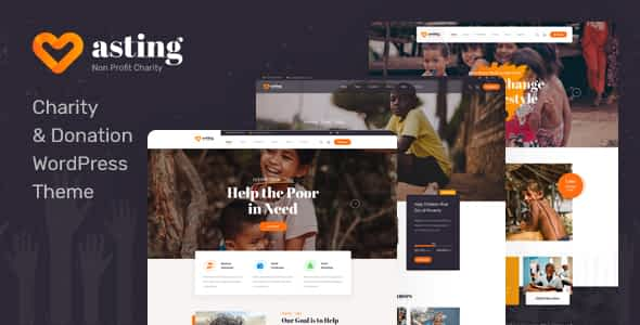 Asting - Charity & Donation WordPress Theme Nulled