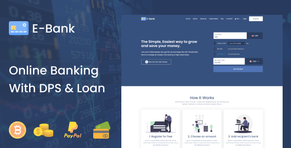 E-Bank - Complete Online Banking System With DPS & Loan Nulled