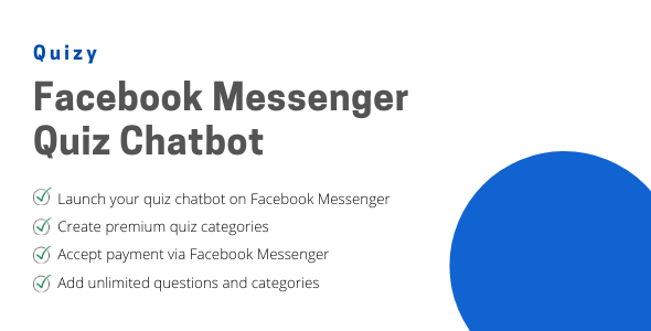 Quizy - Facebook Messenger Quiz Chatbot Nulled