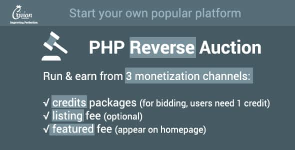 PHP Reverse Auctions Script Nulled
