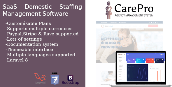 SaaS Domestic Staffing Agency Management System - CarePro Nulled