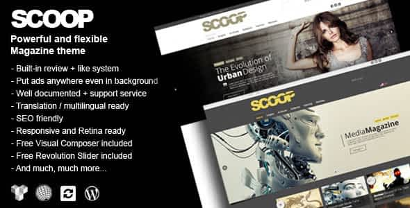 Scoop - A Magazine Theme For WordPress Nulled