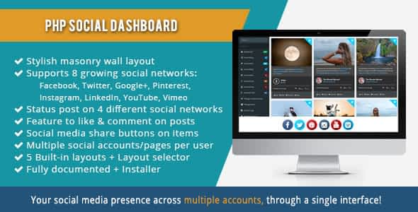 PHP Social Dashboard Nulled