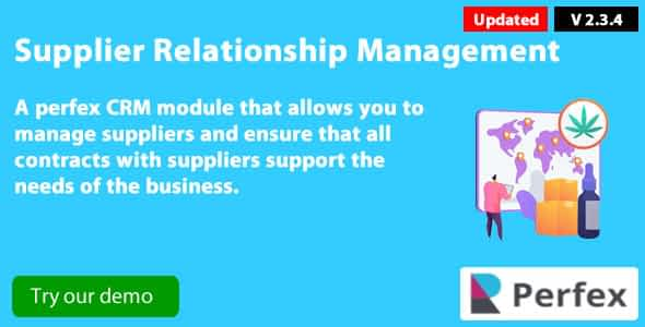 Supplier Management module v2.3.4 for Perfex CRM Nulled