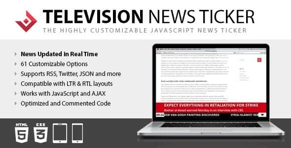Television News Ticker Nulled