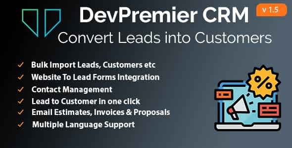 DevPremier CRM - Convert Leads into Customers Nulled