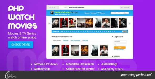 PHP Watch Movies Script Nulled