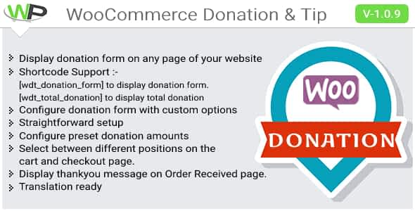 WooCommerce Donation & Tip Nulled