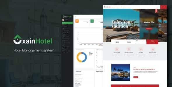 Xain - Hotel Management System with Website Nulled