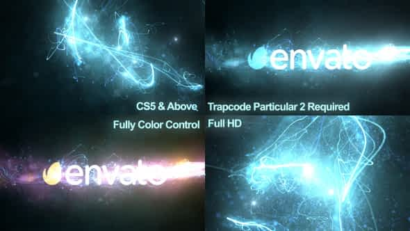 Glowing Particles Logo Reveal 5 Free Download