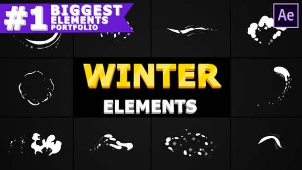 Winter Elements Pack | After Effects Free Download