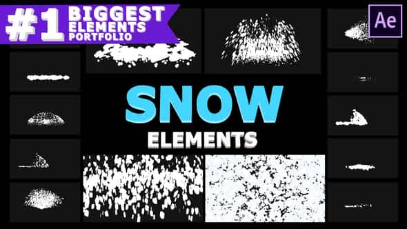 Cartoon Snowflakes | After Effects Free Download