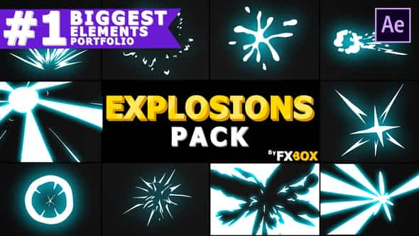 Explosion Elements Pack | After Effects Template Free Download